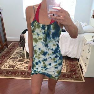Lucky Brand Tie Dye Beach Dress / Cover up